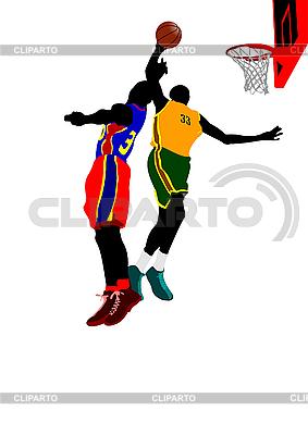 Баскетболисты | Иллюстрация большого размера |ID 3080085