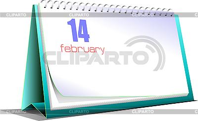 Tischkalender. 14. Februar. Valentinstag | Stock Vektorgrafik |ID 3080105