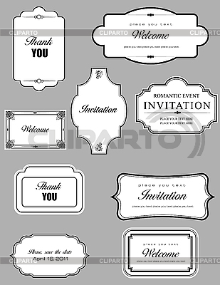 Set of ornate frames | Stock Vector Graphics |ID 3080133