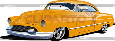 1950s old yellow sedan | Stock Vector Graphics |ID 3080145