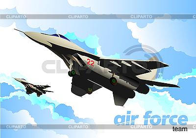 Combat aircraft | Stock Vector Graphics |ID 3105806