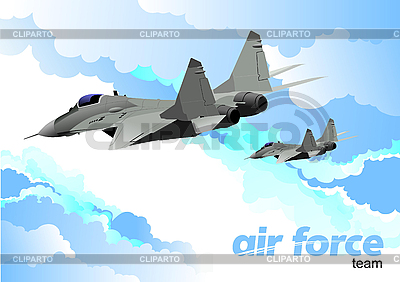 Air force team | Stock Vector Graphics |ID 3105810