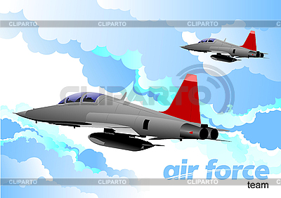 Air force team | Stock Vector Graphics |ID 3105874