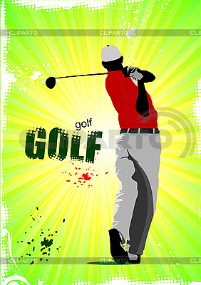 Poster with Golf player   Stock Vector Graphics  ID 3105890