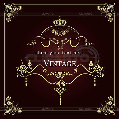Wedding invitation vintage card | Stock Vector Graphics |ID 3136154