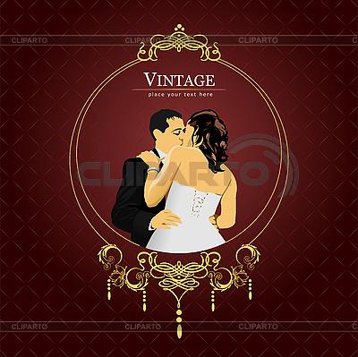 결혼식 초대 빈티지 카드 | 벡터 클립 아트 |ID 3173839