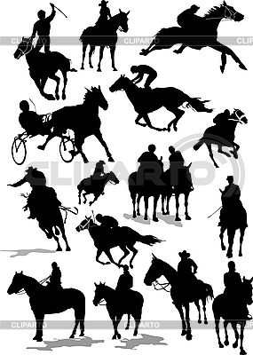 Horse racing silhouettes | Stock Vector Graphics |ID 3175130
