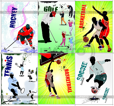 Six sport posters   Stock Vector Graphics  ID 3176559
