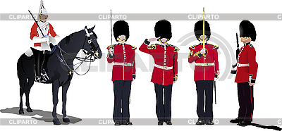 Beefeaters. England guards. | Stock Vector Graphics |ID 3181252
