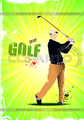 Poster with Golf player | Stock Vector Graphics |ID 3181260