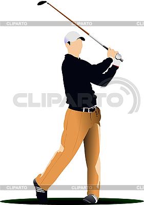 Golf player | Stock Vector Graphics |ID 3181413