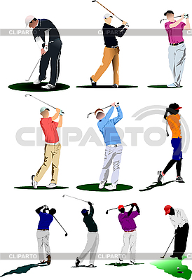 Golf players   Stock Vector Graphics  ID 3181432