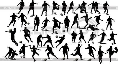 Soccer Players Stock Fotos Und Vektorgrafiken Cliparto