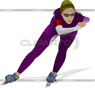 Speed skating | Stock Vector Graphics |ID 3186119