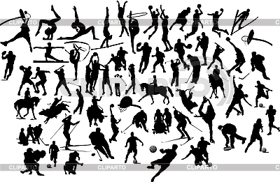Silhouettes of sportsmen | Stock Vector Graphics |ID 3189626