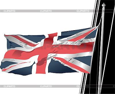 Stilvolle wehende Flagge Vereinigten Königreichs   Stock Vektorgrafik  ID 3193288