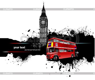 Grunge London plakat | Klipart wektorowy |ID 3210202