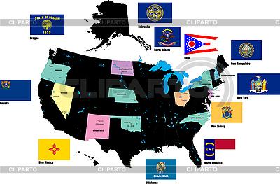 Flaggen von US-Staaten | Illustration mit hoher Auflösung |ID 3210566