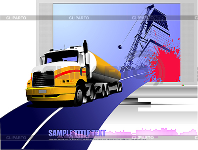 Composition with truck | Stock Vector Graphics |ID 3211637