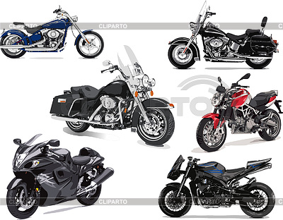Six motorcycles | Stock Vector Graphics |ID 3212237
