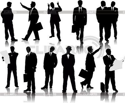 Business people silhouettes | Stock Vector Graphics |ID 3212291