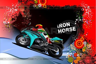 Plakat z motocykla | Stockowa ilustracja wysokiej rozdzielczości |ID 3222602