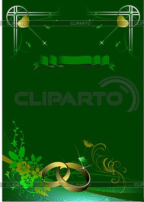 Wedding invitation on green background stock vector graphics wedding invitation on green background vector graphics stopboris Gallery