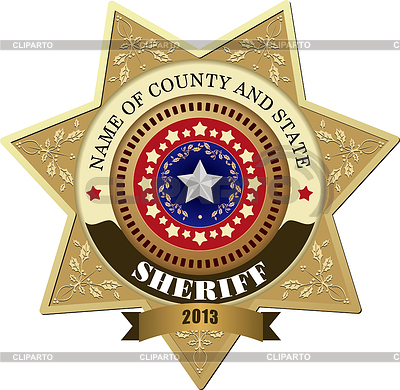 Sheriff`s badge | Stock Vector Graphics |ID 3363137