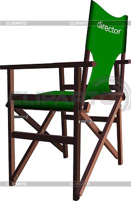Llustration of director`s chair | Klipart wektorowy |ID 3372730