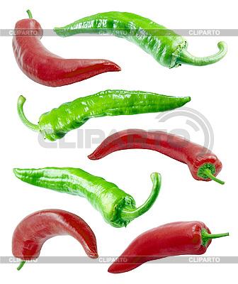 Rote und grüne Chilischoten | Foto mit hoher Auflösung |ID 3049381