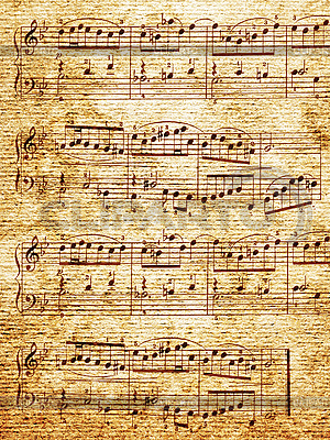 Paper with music notes | High resolution stock photo |ID 3049490