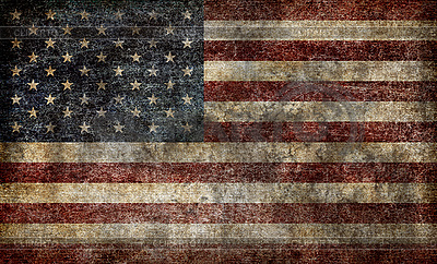 Grunge American Flag High Resolution Stock Photo Cliparto