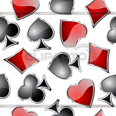 Playing card symbols seamless pattern | Stock Vector Graphics |ID 3051496