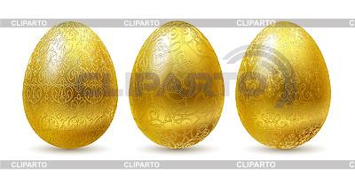 Golden Eastern eggs | Stock Vector Graphics |ID 3051523