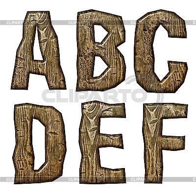 Деревянные буквицы | Иллюстрация большого размера |ID 3075503