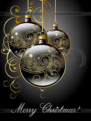 Merry Christmas greeting card | Stock Vector Graphics |ID 3081733