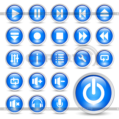 Media player buttons | Stock Vector Graphics |ID 3082120