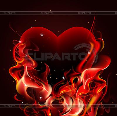 Burning heart | Klipart wektorowy |ID 3124463