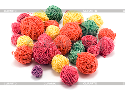Balls of color wool | High resolution stock photo |ID 3050601