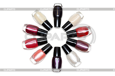 Vials colour varnish nailwaer, star | High resolution stock photo |ID 3050628