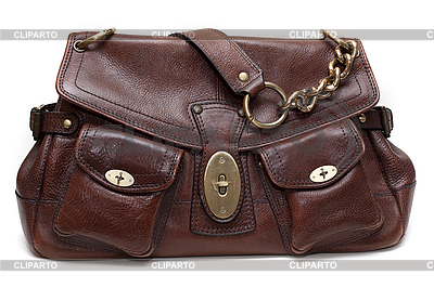 Beautiful brown leather female bag | High resolution stock photo |ID 3050635