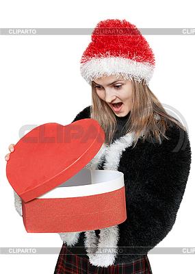Dziewczyna z czerwonym pudełku | Foto stockowe wysokiej rozdzielczości |ID 3050779