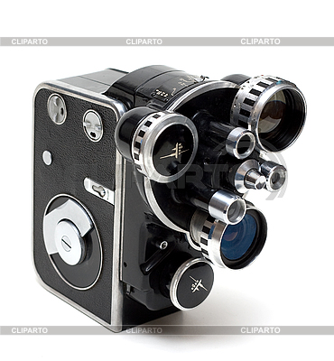 Old movie camera 16 mm with three lenses | High resolution stock photo |ID 3050801