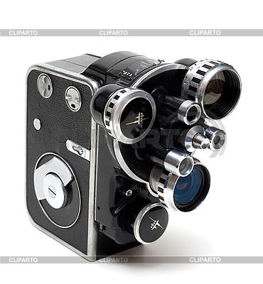 老电影有三个镜头相机的16毫米 | 高分辨率照片 |ID 3050801