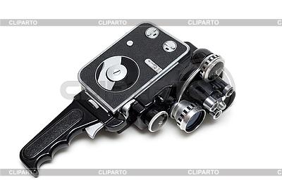 Stare kamery filmowe 16 mm z trzema obiektywami | Foto stockowe wysokiej rozdzielczości |ID 3050803