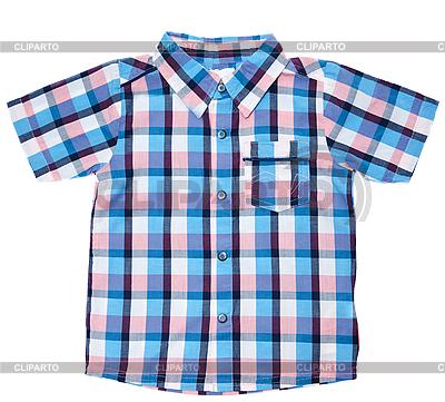 Checkered child`s shirt | High resolution stock photo |ID 3060172