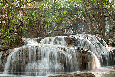 Waterfall in jungle in Thailand | High resolution stock photo |ID 3060233