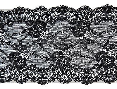 Schwarze Spitze mit Blumenmuster | Foto mit hoher Auflösung |ID 3066218