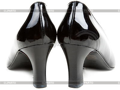 Black feminine patent-leather shoes   High resolution stock photo  ID 3066313