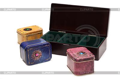 Pudełko z herbatą, żelaza pakowania wariantu trzech | Foto stockowe wysokiej rozdzielczości |ID 3306629